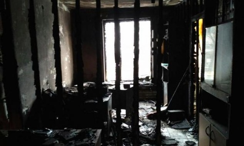 Fire Destroys Part of Memorial's Nazran Office