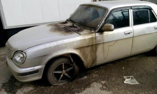 Memorial HRC Car Torched in Dagestan